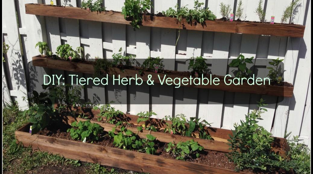 diy tiered planter vegetable herb garden sunshine dad