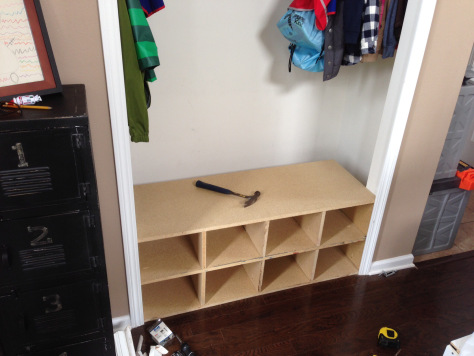 Next I Removed The Shelf From The Closet And Built My Own: